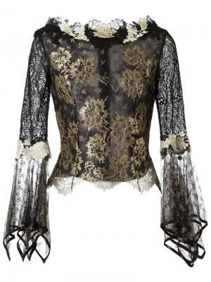 Кружевная блузка Martha Medeiros. Цвет: чёрный