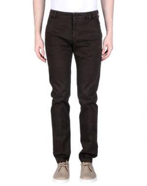 Повседневные брюки GABARDINE. Цвет: темно-коричневый