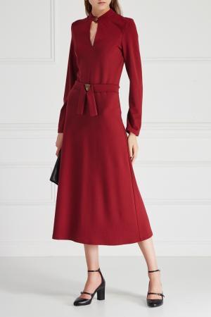 Однотонное платье VIKTORIA IRBAIEVA. Цвет: бордовый