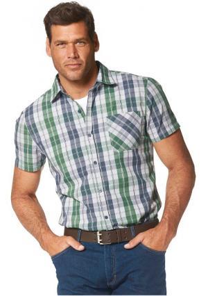 Рубашка MANS WORLD MAN'S. Цвет: зеленый/синий/белый