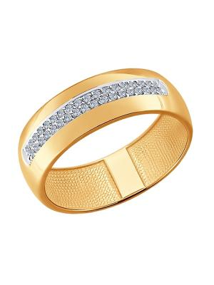 Обручальное кольцо SOKOLOV. Цвет: золотистый