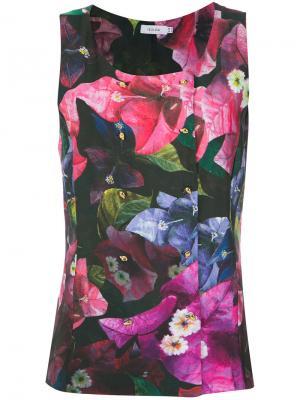 Топ с цветочным принтом Isolda. Цвет: многоцветный
