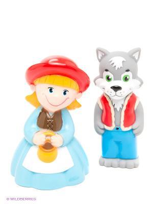 Пластизоль Красная Шапочка и волк ЗАТЕЙНИКИ. Цвет: серый, голубой