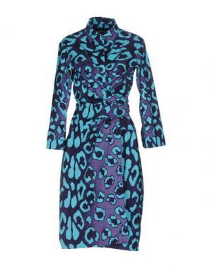 Платье до колена SAMANTHA SUNG. Цвет: темно-фиолетовый