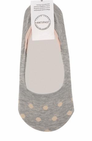 Хлопковые носки с принтом Antipast. Цвет: светло-серый