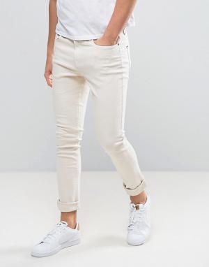 Hoxton Denim Светло-розовые джинсы скинни. Цвет: розовый