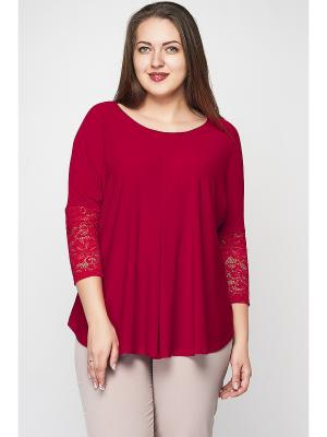 Блузка Limonti. Цвет: красный