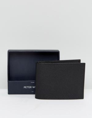 Peter Werth Черный бумажник Wertth. Цвет: черный