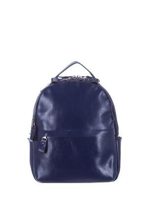 Рюкзак натуральная кожа Sara. Цвет: синий
