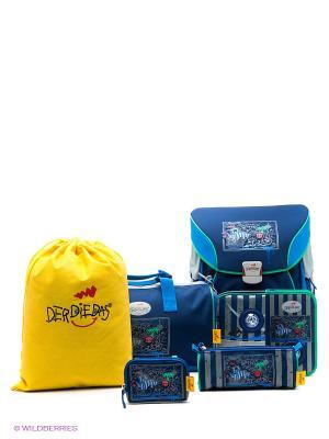 Рюкзак с наполнением Пиратский корабль DerDieDas. Цвет: синий