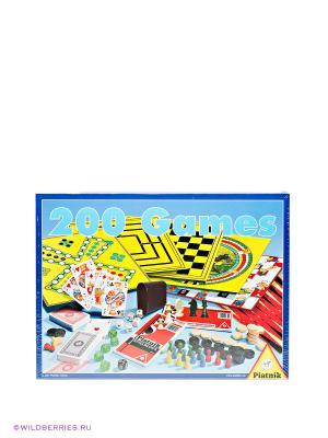 Настольная игра 200 игр, включая шахматы Piatnik. Цвет: желтый, голубой, красный
