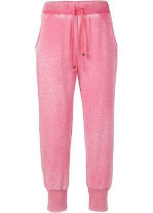 Мода больших размеров: трикотажные брюки (индиго «потертый») bonprix. Цвет: индиго «потертый»