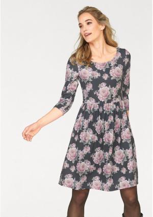 Платье CHEER. Цвет: серый/розовый