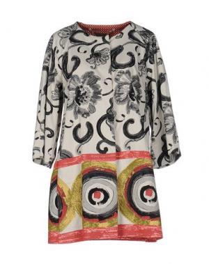 Легкое пальто MARIAGRAZIA PANIZZI. Цвет: слоновая кость