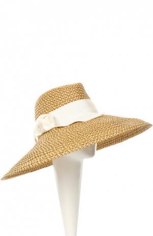 Шляпа Eric Javits. Цвет: светло-бежевый