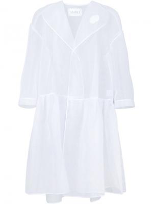 Прозрачное объемное пальто Xiao Li. Цвет: белый