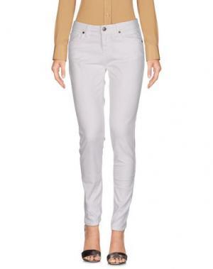 Повседневные брюки KONTATTO. Цвет: белый