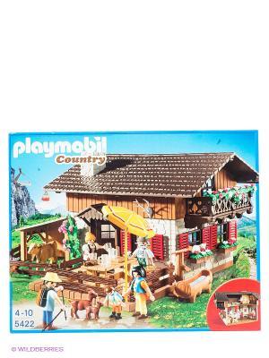 Дом в горах Playmobil. Цвет: коричневый, бежевый, желтый, зеленый