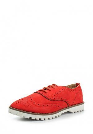 Ботинки My&My. Цвет: красный