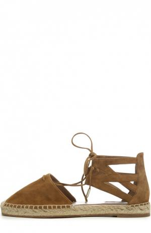 Эспадрильи Belgravia на шнуровке Aquazzura. Цвет: коричневый