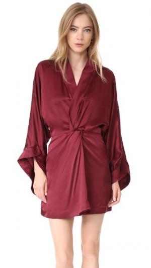Шелковое платье Eden Acler. Цвет: сливовый