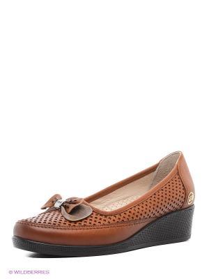 Туфли Atiker. Цвет: светло-коричневый