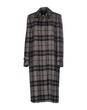 Пальто TRUE TRADITION. Цвет: серый