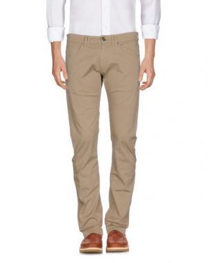 Повседневные брюки ONE SEVEN TWO. Цвет: бежевый