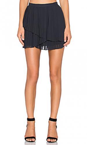 Плиссированная юбка avenia Joie. Цвет: черный
