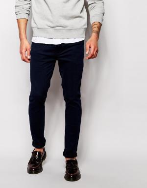 Farah Эластичные джинсы слим. Цвет: синий