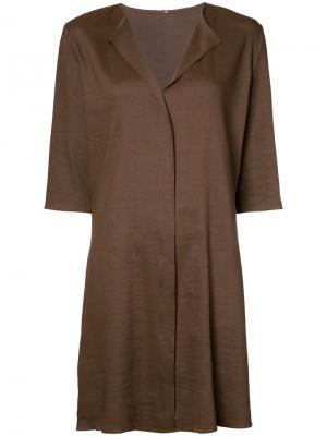 Короткое однотонное расклешенное платье Peter Cohen. Цвет: none