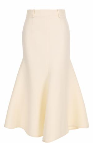 Расклешенная юбка-миди Bally. Цвет: белый