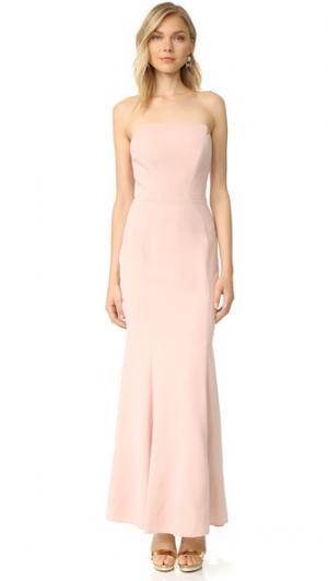 Платье без бретелек Jill Stuart. Цвет: розовый телесный