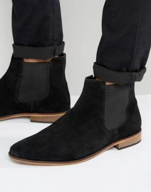 KG Kurt Geiger Черные замшевые ботинки челси by. Цвет: черный