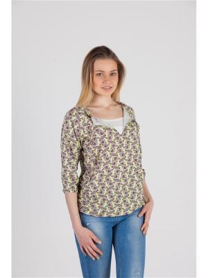 Блуза с секретом кормления Ням-Ням. Цвет: салатовый, розовый