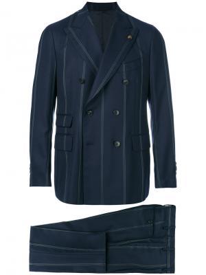 Полосатый костюм Regimental Gabriele Pasini. Цвет: синий