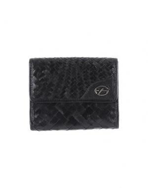 Бумажник FRANCESCO BIASIA. Цвет: черный
