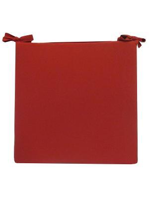 Сидушка декоративная 40*40, цвет терракот Dorothy's Нome. Цвет: красный