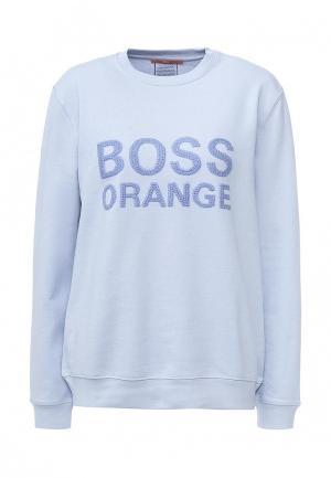 Свитшот Boss Orange. Цвет: голубой