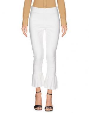 Повседневные брюки SOALLURE. Цвет: белый