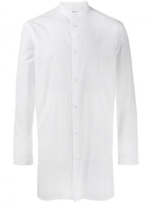 Рубашка с узким воротником-стойкой Helmut Lang. Цвет: белый