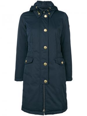Пальто на пуговицах Peuterey. Цвет: синий