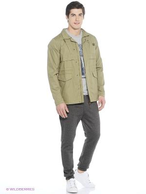 Куртка FASHION FIELD JACKET ONITSUKA TIGER. Цвет: оливковый