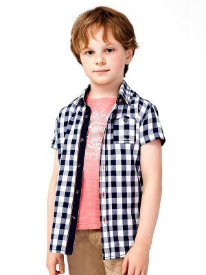 Рубашка VILATTE. Цвет: синий, белый