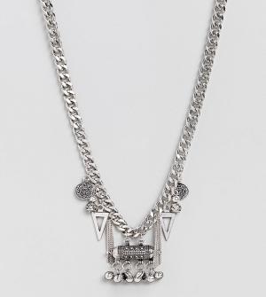 Sacred Hawk Ожерелье с подвеской. Цвет: серебряный
