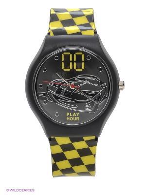 Часы Link - Race Kawaii Factory. Цвет: черный, желтый