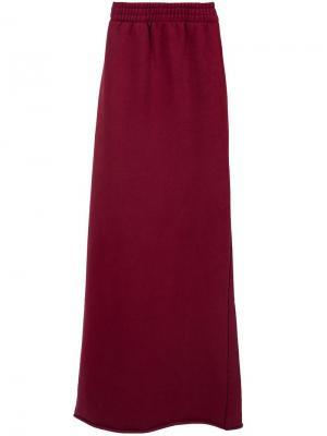 Длинная юбка Vetements. Цвет: красный