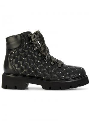 Стеганые ботинки Baldinini. Цвет: чёрный