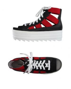 Высокие кеды и кроссовки FESSURA. Цвет: красный