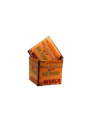 Пуф с местом для хранения essentic. Цвет: оранжевый, коричневый